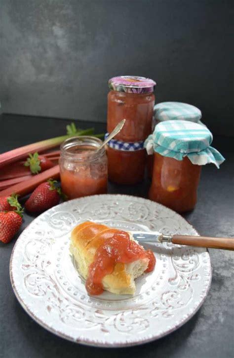 rhabarber erdbeer konfituere mit vanille kochen aus liebe
