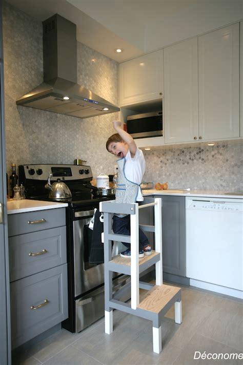 cuisine du comptoir fabriquer un tabouret de cuisine pour enfant déconome