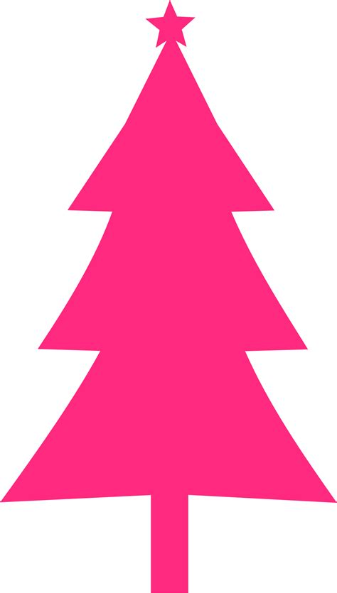 clipart christmas tree silhouette