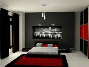 Ideas For Bedroom Decor Black And Bedroom Interior Design Home Pleasant