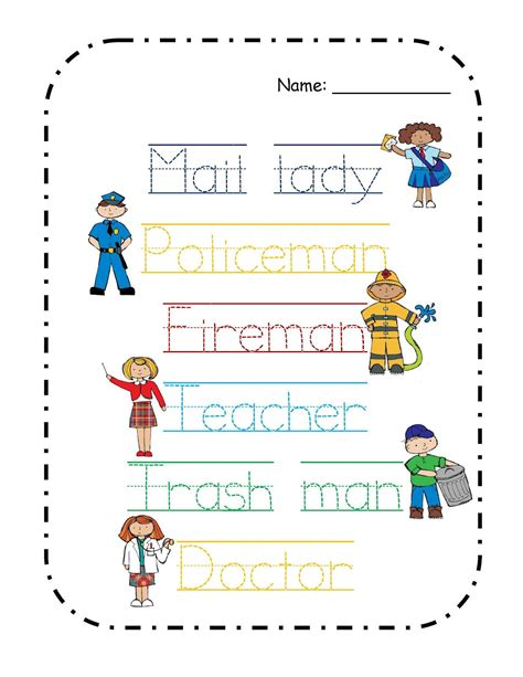 preschool printables free community helper s mini 246 | eb5ead34da04fe83c2fb9355d3598db8