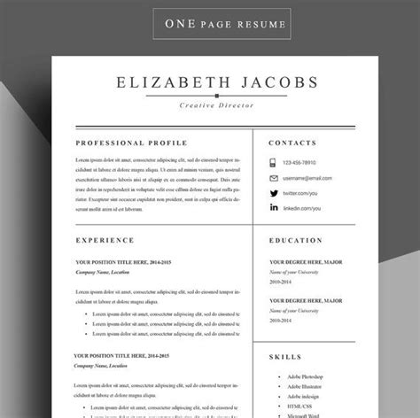Resume Writing Templates Word by Resume Modern Resume Resume Template Cv Word Cv