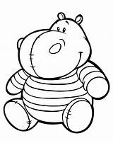 Hippo Coloring Toys sketch template