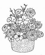 Bouquet Coloring Flower Detailed Flowers Printable Drawing Basket Google Adults Adult Colouring Floral Boquet Embroidery Classical Azcoloring Sheets Getdrawings Paper sketch template