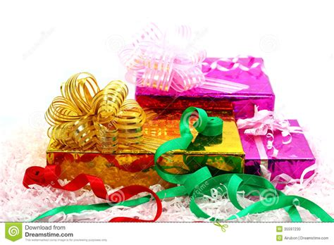 group of christmas gifts stock photo image 35597230