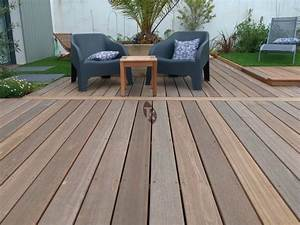 lames de terrasse en bois exotique bangkirai tekabois With terrasse bangkirai