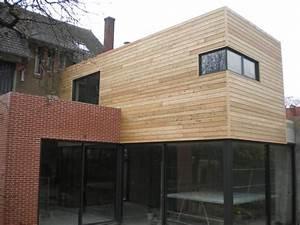 bardage bois bardage bois pinterest With extension maison en l 4 extension bois sur maison en pierre tulle vincent