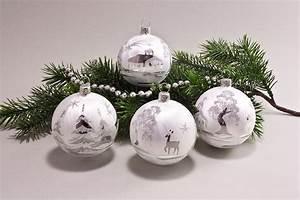 Weihnachtskugeln Glas Lauscha : 4 kugeln 8cm eiswei silberne landschaft onlineshop f r ~ A.2002-acura-tl-radio.info Haus und Dekorationen