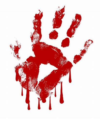 Blood Clipart Handprint Clip Transparent Drip Bloodshot