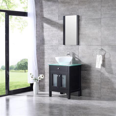 wood bathroom sink vanity cabinet  bowl modern