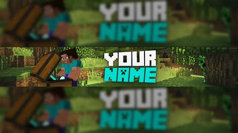minecraft banner template   psd youtube