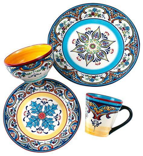 16piece Zanzibar Dinnerware Set Mediterranean
