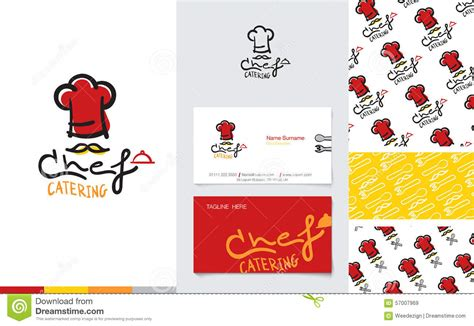 Logo Of Chef Catering With Name Card And Pattern Stock Staples Business Card Avery Tattoo Artist Designs Clip Art Free Air Force Rules Eight App Review Source Code Ascii