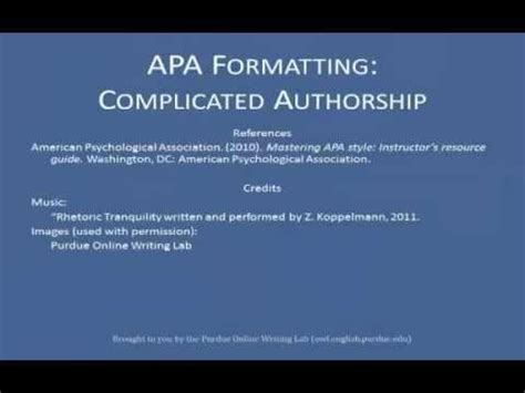 references list complex authors youtube