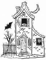 Coloring Pages Haunted Scary Print sketch template
