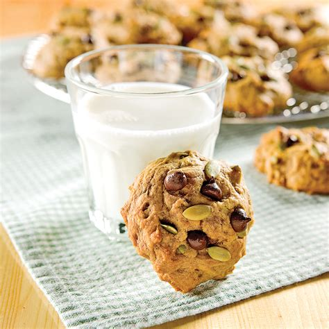 cuisine citrouille biscuits à la citrouille et pépites de chocolat recettes