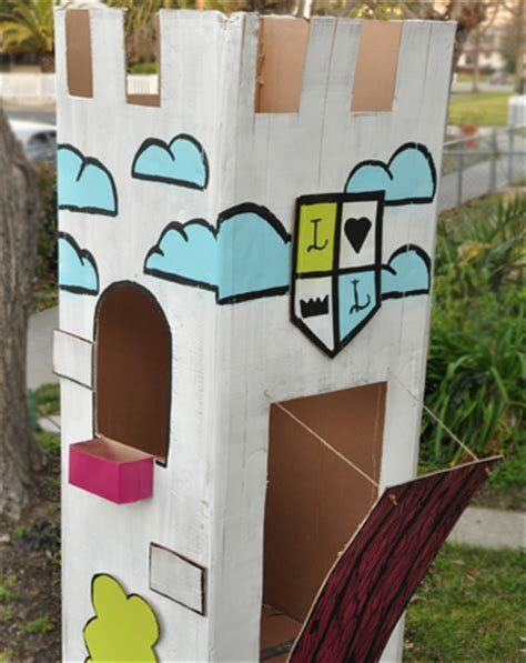 construct a kid size cardboard castle activity 125 | big cardboard castle slide