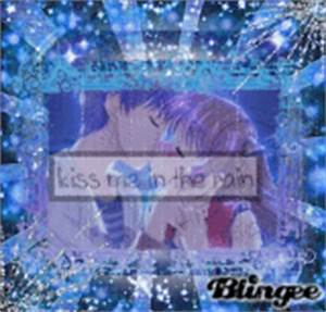 anime kiss in rain Pictures [p. 1 of 2] | Blingee.com