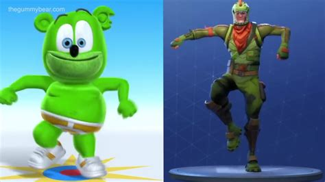Fortnite Characters Dancing To The Gummy Bear Song Mashup
