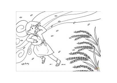Wind Coloring Chaff Away Blows Pages Clipart