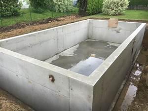 piscine beton banche mtr maconnerie traditionnelle et With beton etanche pour piscine