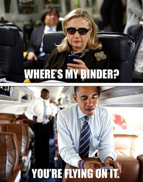 Hillary Clinton Texting Meme - romney s binders full of women gaffe sparks instant internet meme wired