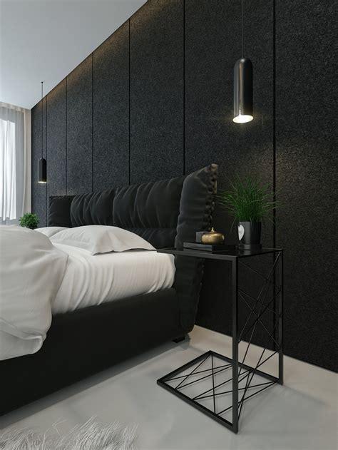 modern black bedroom black and white interior design ideas modern apartment by 12540