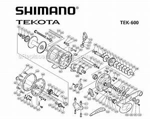 Shimano Tek600 Parts List And Diagram   Ereplacementparts Com