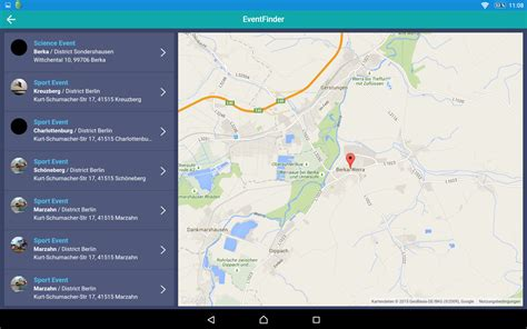 event app  maps tablet ionic marketplace