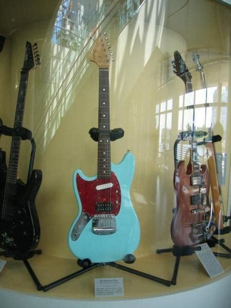 kurt cobains guitar photo