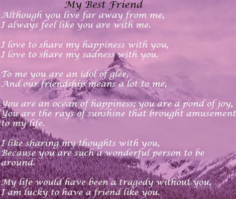 "English Poem ""my Best Friend"""