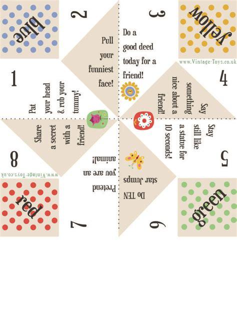 paper fortune teller printable templates origami