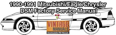 how to download repair manuals 1991 eagle talon electronic toll collection 1990 1991 mitsubishi eclipse eagle talon plymouth laser service manual vintagemanuals