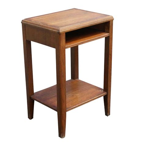 two tier end table 20 quot vintage leopold two tier telephone end table ebay