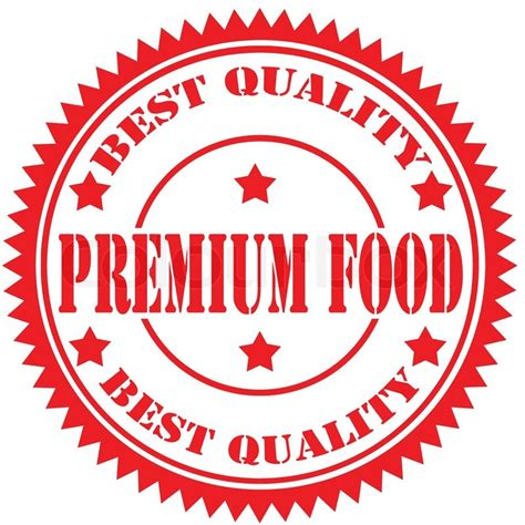 premium cuisines rubber st with text premium food vector illustration