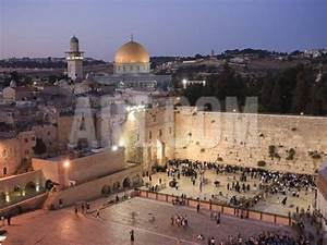Wailing Wall, Western Wall and Dome of the Rock Mosque ...