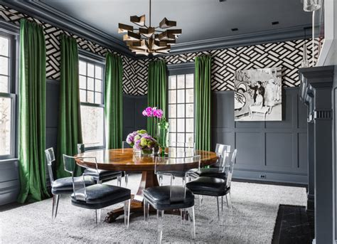 colonial revival transitional dining room  york