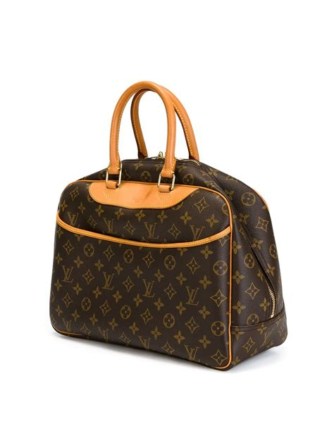 lyst louis vuitton deauville luggage bag  brown