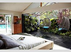 hanging garden chair bedroom tropical with transterior