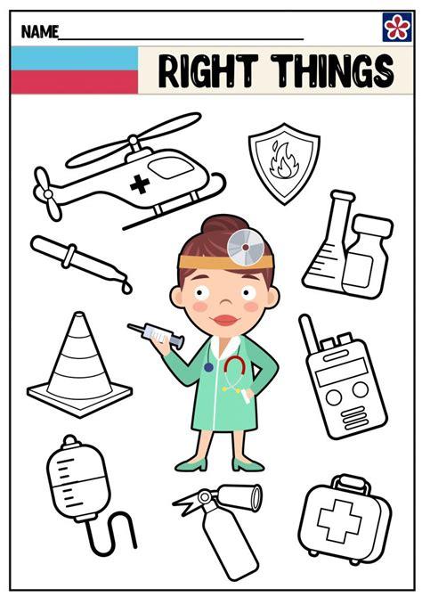 community helpers worksheets doctor teachersmagcom