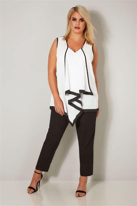 blouse london asymmetric yours ruffle ruffled plus double enlarge