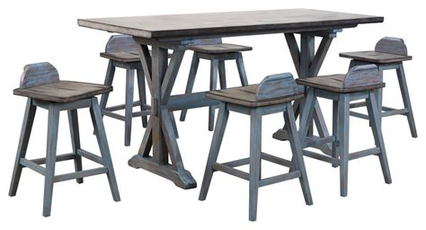 kris  piece counter height dining set distressed gray