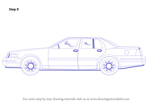 Learn How To Draw Police Car Victoria (police) Step By
