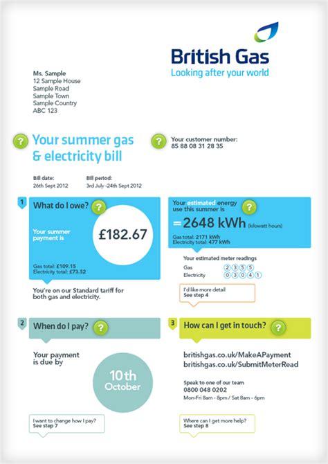 understanding  bill british gas