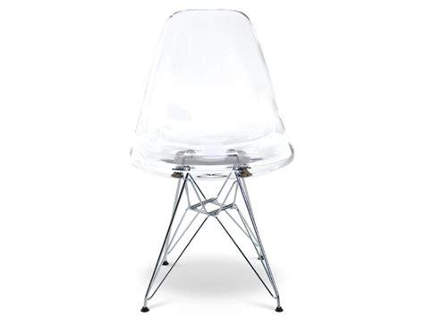 chaise eames transparente silla dsr transparente
