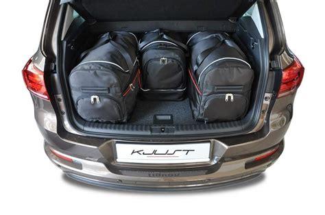dachträger vw touran kjust vw tiguan 2007 2015 kofferraumtaschen set 4 stk autotaschen sets vw tiguan i 2007