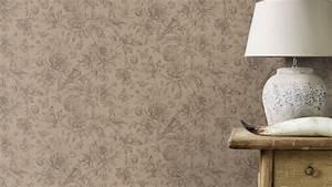 vliestapete rasch florentine blumen vogel taupe 449464 With balkon teppich mit rasch tapeten florentine