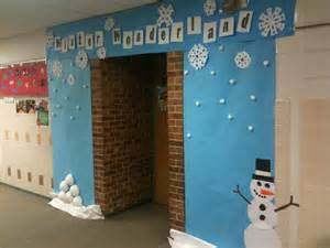 winter wonderland classroom door decor love this