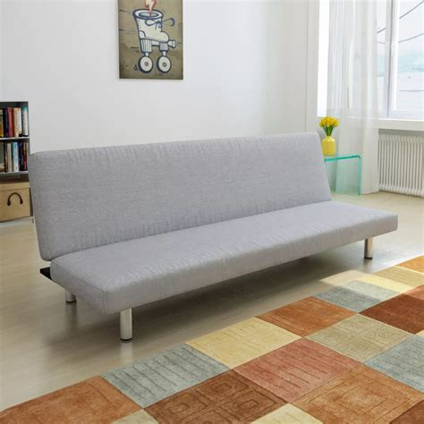 Light Gray Convertible Sofa Bed Vidaxlcom