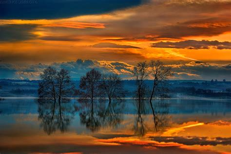 lakecool images reflection greece trees sunset fresh